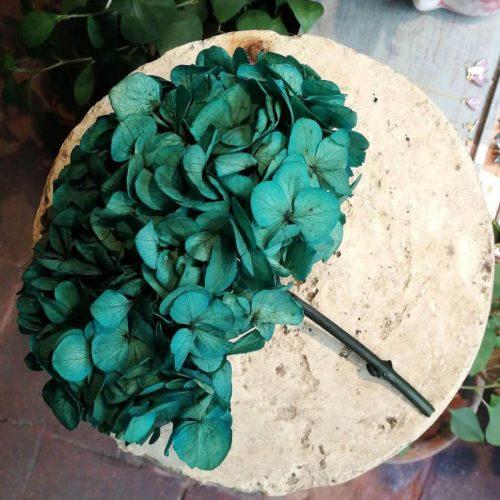 Bonita flor de hortensia preservada se mantiene intacta para toda la vida