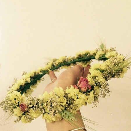 Flores naturales para adornos del cabello