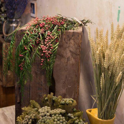 Ramillete de falsa pimienta preservada en Madrid capital