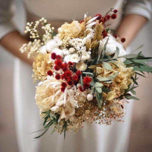 Precioso ramo para toda la viad de flores preservadas en suaves tonalidades de verano