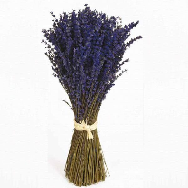 Ramo de flores de lavanda preservados