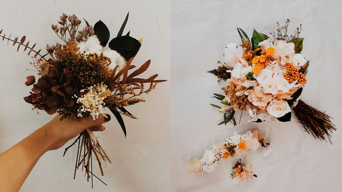 ramos de boda otoño