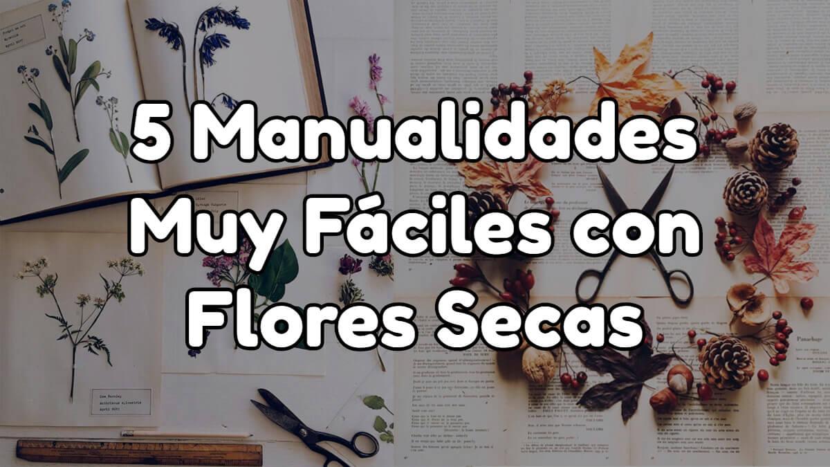 Manualidades fáciles con flores secas