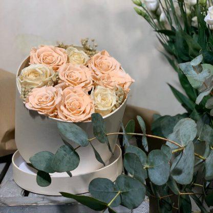 tambor con rosas para toda la vida