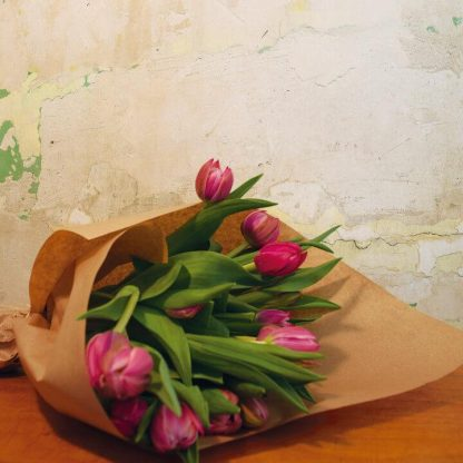 Bouquet de tulipanes rosas