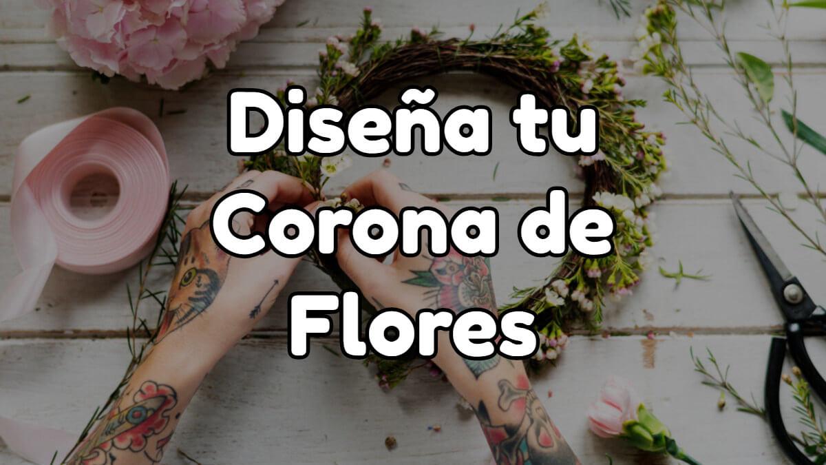 Como hacer coronas de flores