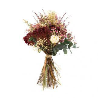Ramo con flores preservadas de estilo silvestre