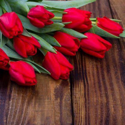 Ramo de tulipanes rojos a domicilio